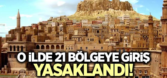 Mardin'de 21 bölgeye giriş yasağı