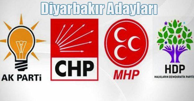 Partilerin Diyarbakır Adayları netleşti, işte liste