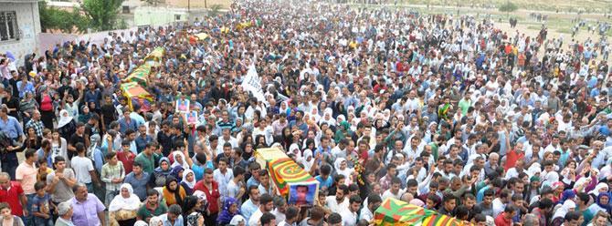 Cizre'de 16 cenaze toplu törenle defnedildi