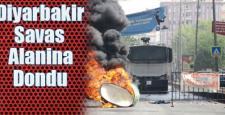 Diyarbakır sokakları savaş alanına döndü