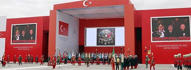 29 Ekim töreninde Osmanlı arması