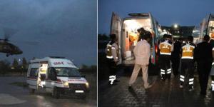 Askeri araç devrildi: 6 asker yaralı