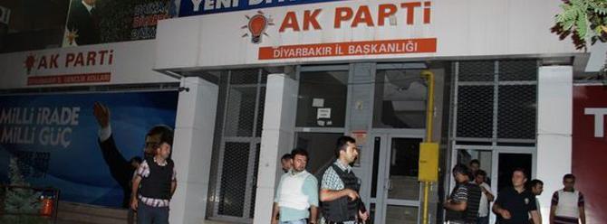 Diyarbakır'da Ak Parti il binasına ses bombası atıldı