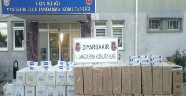 Diyarbakır bir depoda kaçak sigara ele geçirildi