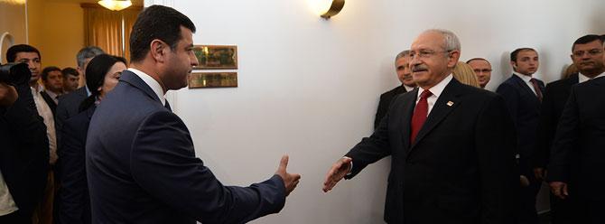 Görüşme sonrası Kılıçdaroğlu ve Demirtaş konuştu