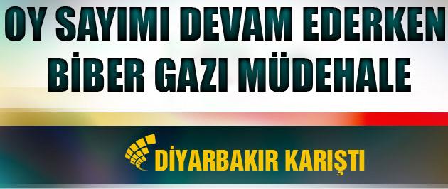 Diyarbakır'da biber gazlı müdahale yaşandı