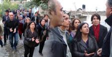 HDP'li vekillere Silvan'da polis engeli