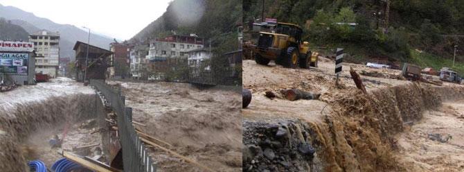 Rize, Artvin ve Ardahan'da kuvvetli yağış