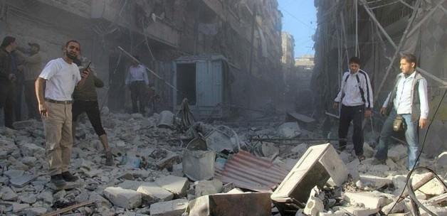 Rusya Halep'te sivilleri vurdu: 15 ölü