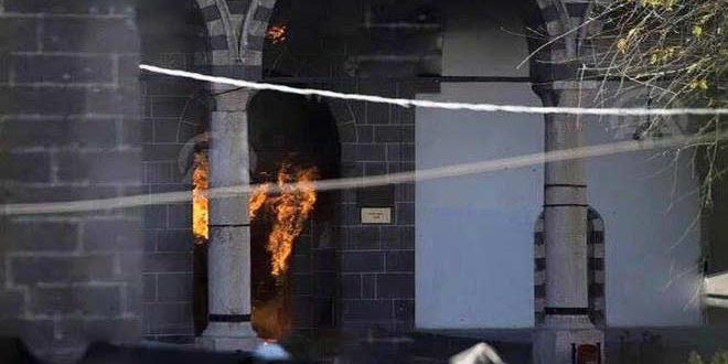 Kurşunlu camii ve Paşa Hamamı alev alev yanıyor