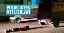 PKK Üyesi Lokman Birlik'in cesedini sürükleyen polisler atıldı
