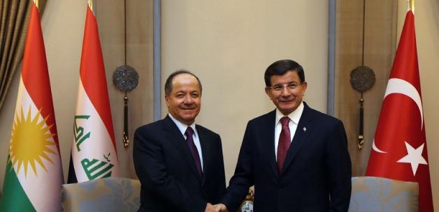 Ahmet Davutoğlu, Mesut Barzani ile görüştü