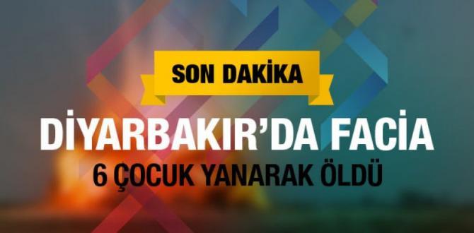 Diyarbakır'dan acı haber: 6 çocuk öldü