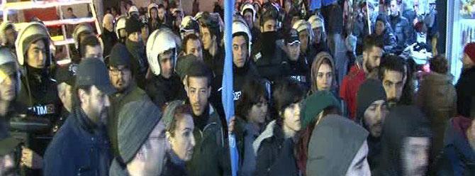 Kadıköy'de gergin eylem