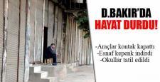 Diyarbakır'da kepenkler açılmadı, hayat durdu