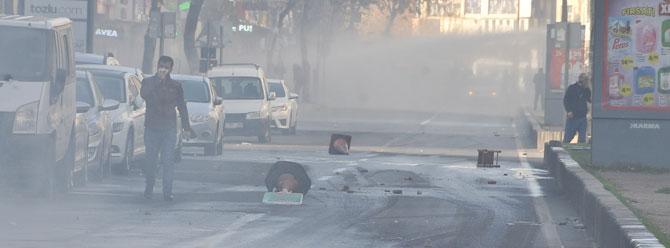 Sur'da PKK'dan roketatarlı saldırı: 1 polis yaralı