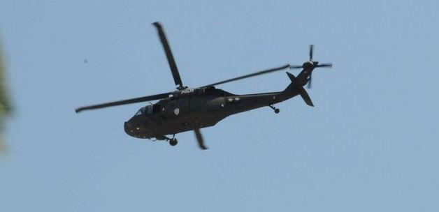 Sur'daki operasyon helikopter kamerasında