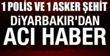 Diyarbakır Sur'da 1 asker ve 1 polis şehit
