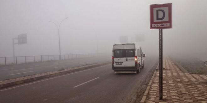 Diyarbakır'da yoğun sis hayatı durdurdu