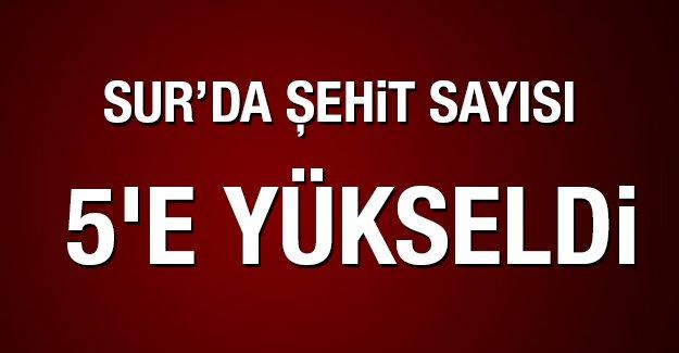 Diyarbakır'da şehit sayısı 5'e yükseldi