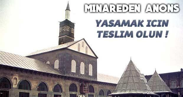 Diyarbakır'ın tarihi Ulu Camii'nden 'Teslim olun' anonsu yapıldı