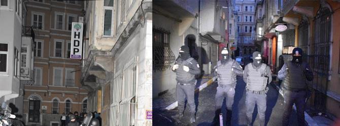 HDP Beyoğlu İlçe Binası'nda arama
