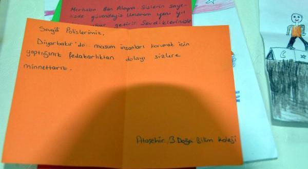 Sur`daki güvenlik güçlerine çocuklardan mektup: Size minettarız