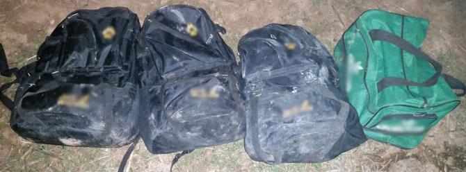 Şanlıurfa sınır hattında 4 çantada 50 kilo patlayıcı