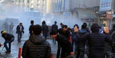 Sur protestolarında yine olaylar çıktı