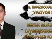 Namık Altunsoy, Diyarbekirspor'a ne yapmak istiyor