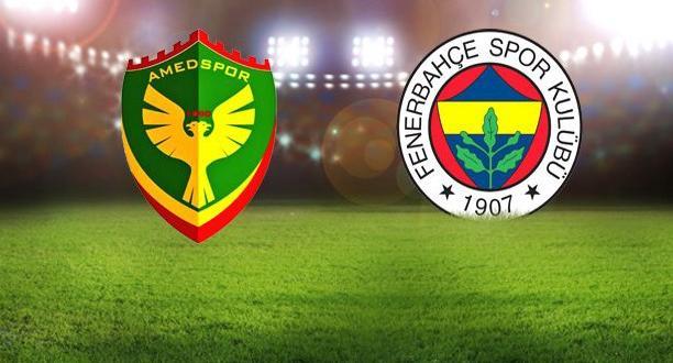 Amedspor – Fenerbahçe maçında ilk 11'ler belli oldu