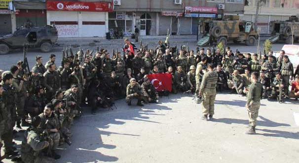 Şırnak Cizre'de operasyon tamamlandı, bayraklar asıldı