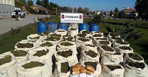 Diyarbakır'da 50 Kilo 700 Gram esrar ele geçirildi