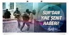 Sur'da bir asker kanas ile vurulup şehit oldu