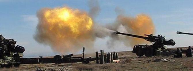 YPG saldırıyor, obüsler karşılık veriyor