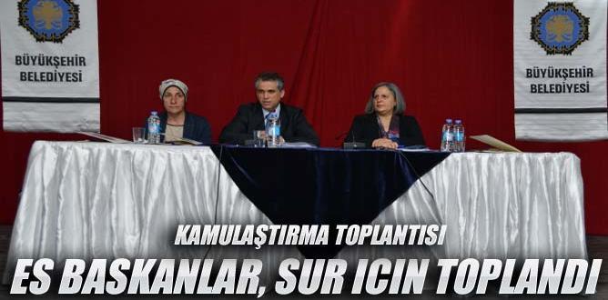 Belediye Eş başkanları ve STÖ'ler, Suriçi için toplandı
