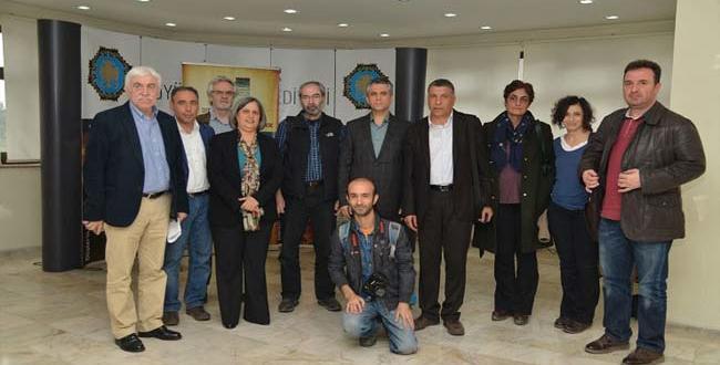 Gazetecilerden, Büyükşehir Belediyesine ziyaret