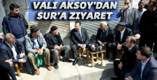 Vali Aksoy: Sur'a geldi, esnafı ziyaret etti