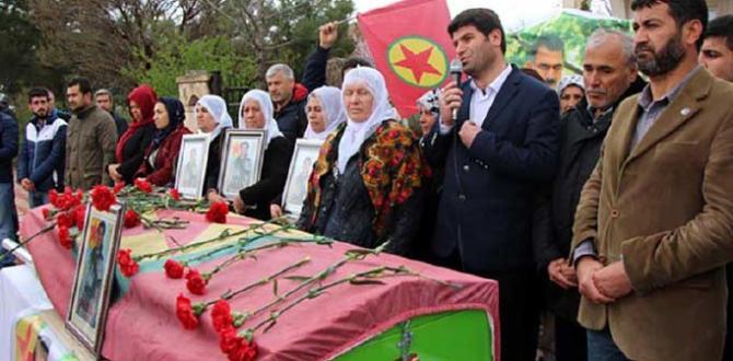 Sur'da ölen, PKK'nin ilçe sorumlusu defin edildi