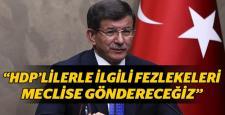 """Ahmet Davutoğlu'ndan, """"Fezleke"""" açıklaması geldi"""