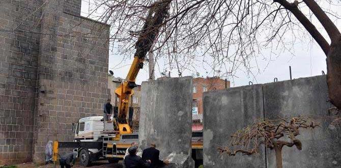 """Sur'un operasyon sahası """"Beton Duvar"""" ile kapatılıyor"""