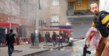 Diyarbakır'da; yaralanan polislere vatandaşlar yardım etti