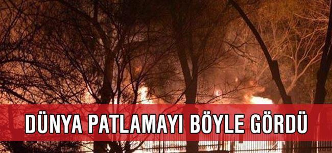 Dünya gündemi Ankara'daki patlamayı son dakika geçti
