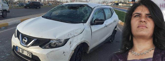 Dilek Öcalan'ın aracı feci şekilde kaza yaptı