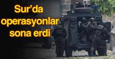 Sur'da operasyonlar sona erdi, yasak devam diyor
