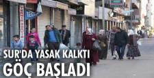 Sur'un yasak kalkan mahallelerinden eşyalar taşındı