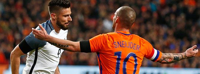 Hollanda milli takımında Sneijder sakatlandı