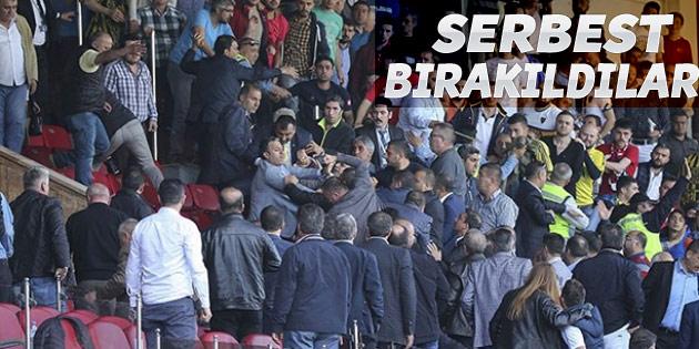 Amedsporlu yöneticileri darp eden 6 kişi serbest bırakıldı