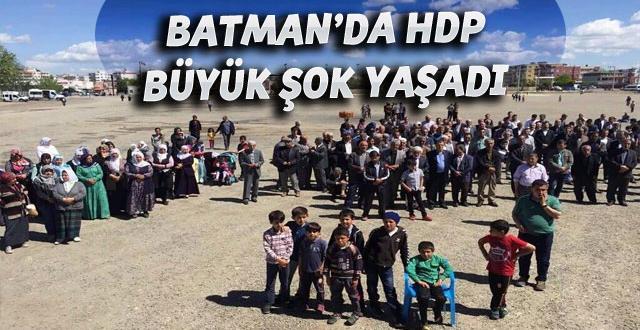 """HDP'nin Batman'da """"Kutlu Doğum"""" etkinliği ilgi görmedi"""