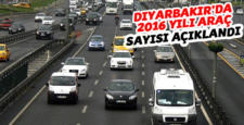 Diyarbakır'da araç sayısı arttı, işte son rakamlar